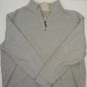 Women's L Tommy Bahama grey quarter zip sweatshirt